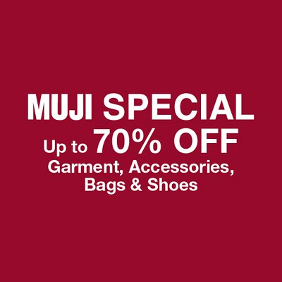 MUJI Singapore Sale - Find Out More With Us
