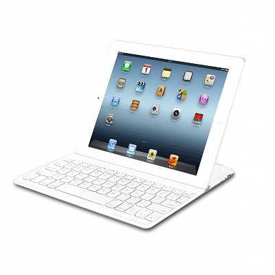 White Logitech UltraThin KeyBoard Cover For iPad