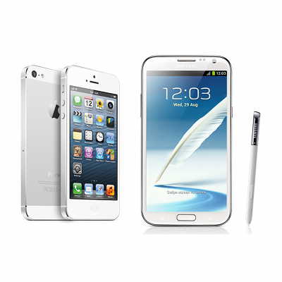 iPhone 5 vs Samsung Galaxy Note II Specs Comparison