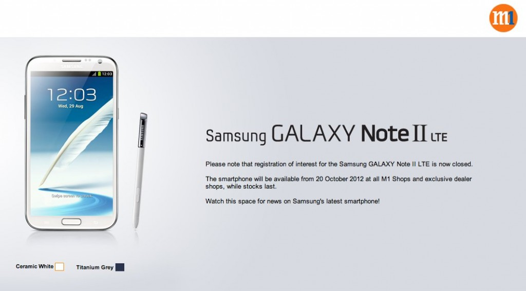 Registration Closed for Samsung Note 2 LTE t M1 Singapore