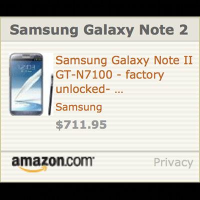 Samsung Note 2 Online Order