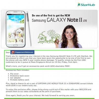 StarHub Samsung Note II LTE Launch