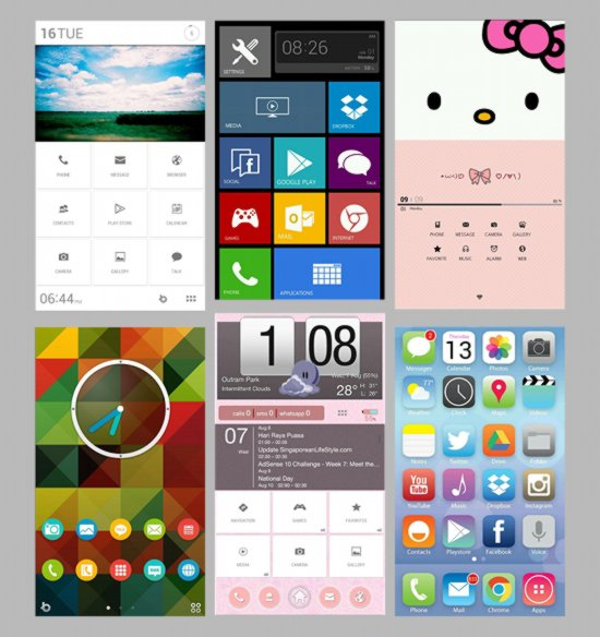 Buzz Launcher Homescreens