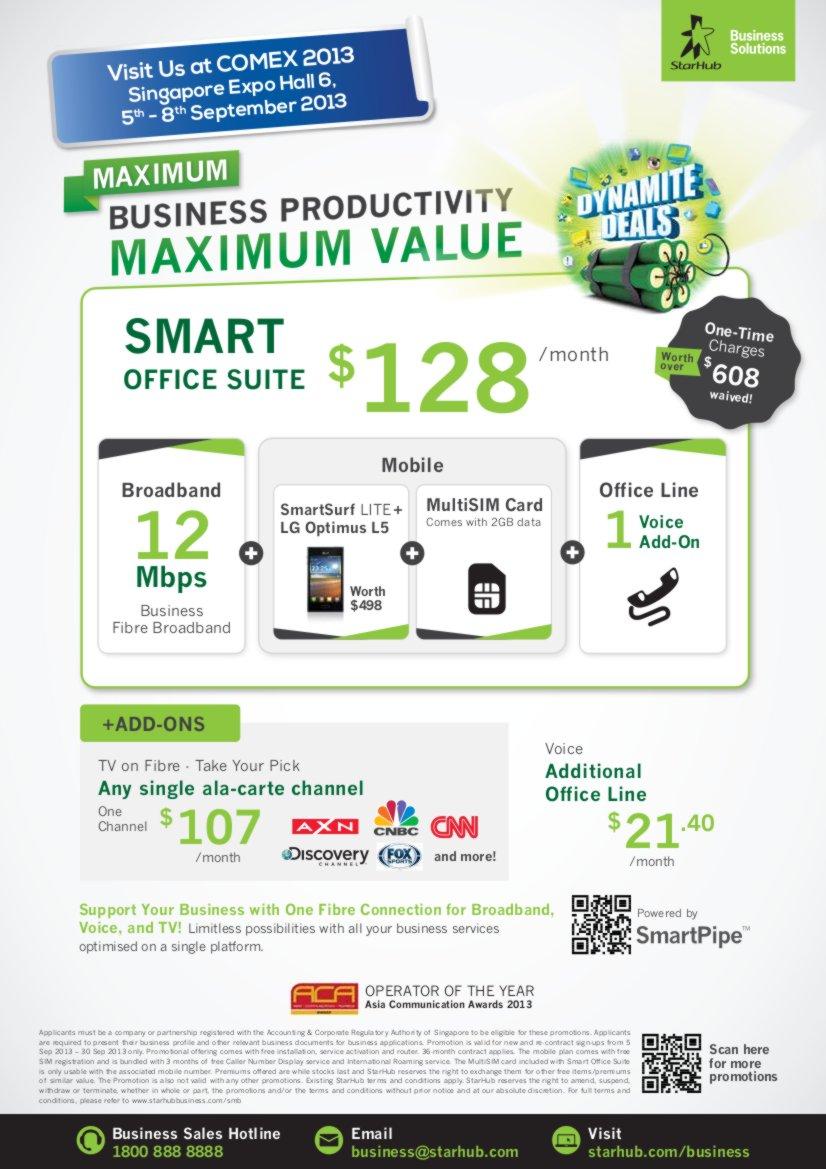 COMEX 2013 - StarHub Promotions Price List - Enterprise Page1