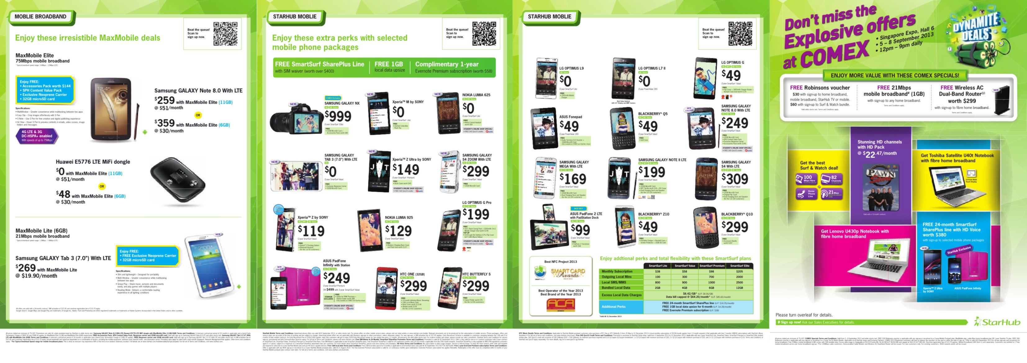 COMEX 2013 - StarHub Promotions Price List - Page1