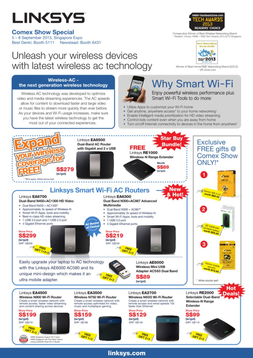 Comex 2013 Flyers - Linksys - Page1