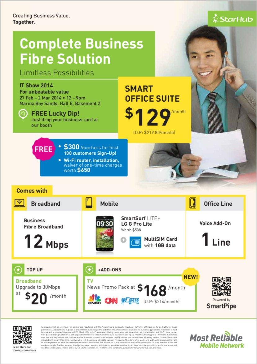 ITSHOW 2014 StarHub Enterprise Flyer Page 1 of 4