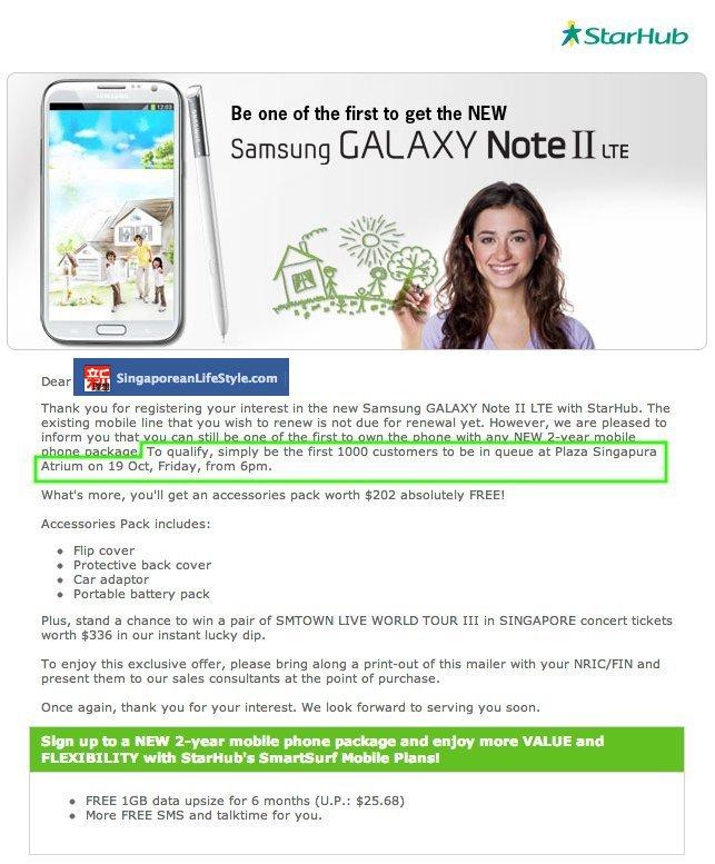 StarHub Samsung Note II LTE Launch v2
