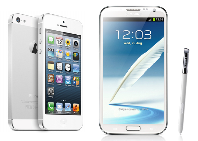 iPhone5 VS Samsung Galaxy NOTE2