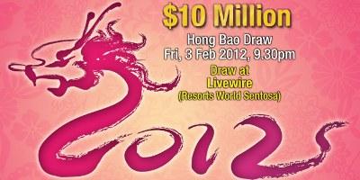 S$10 Million Hong Bao Toto Draw 3rd Feb 2012