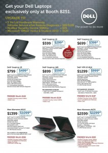 DELL IT SHOW 2012 Laptop Promotions