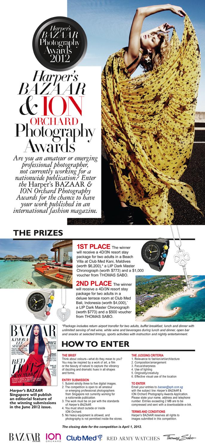 Harper's Bazaar & ION Orchard Photography Awards details