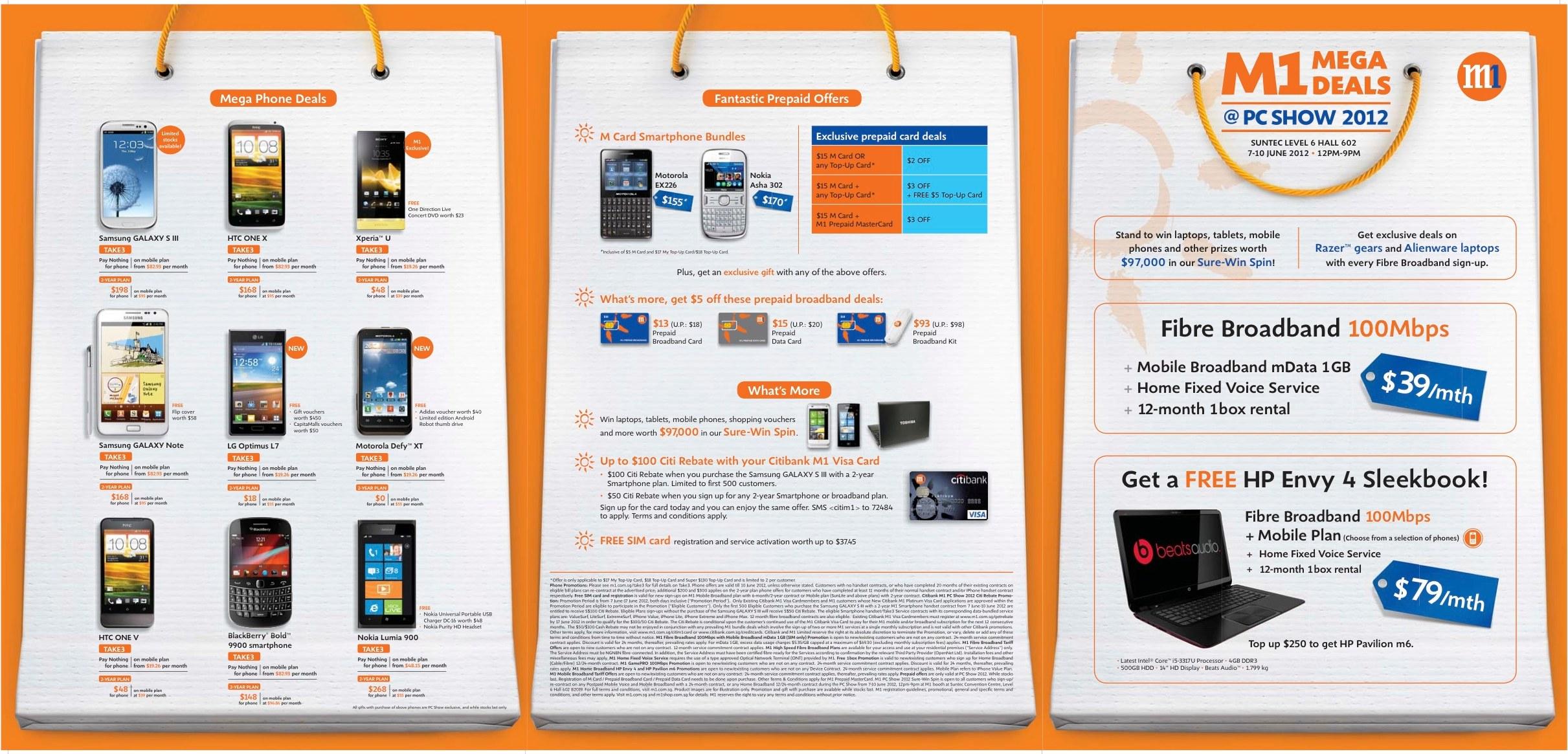 M1 PC SHOW 2012 leaflet