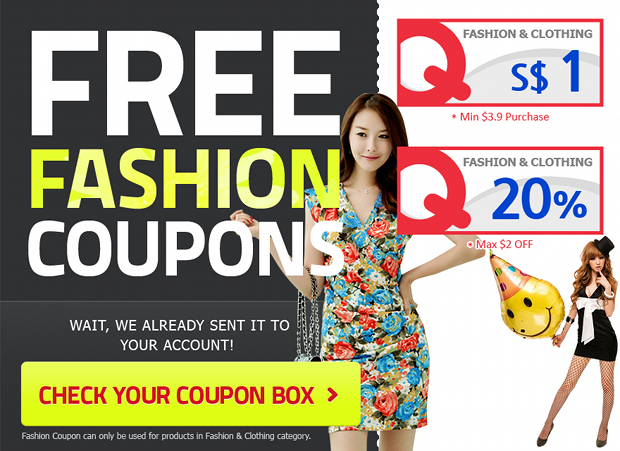 Check Out these FREE Fashion Coupons From Qoo10 Singapore