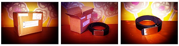 Black Unisex Simple Buckle Belt from Qoo10 Singapore - G Lovely Shop