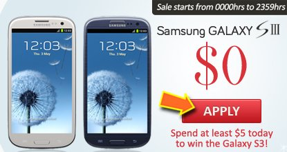 How To Win The New Samsung Galaxy S3