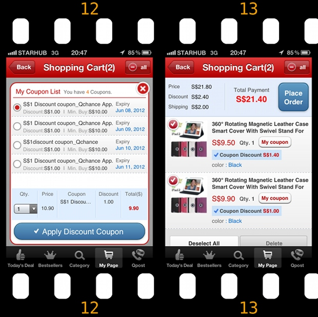 Qoo10 Singapore Time Sale iPad2 Smart Cover Online Order - Discount Coupons comparison