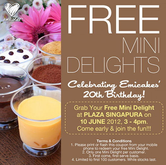 FREE Mini Delights from emicakes