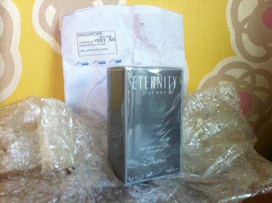 Qoo10 Gmarket Singapore Calvin Klein Eternity - unwrapped