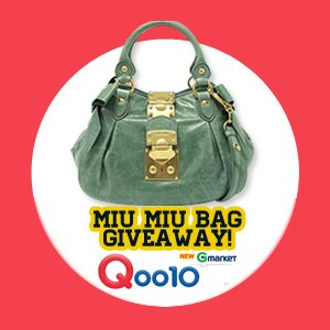 Qoo10 Singapore Miu Miu Bag GiveAway