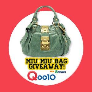 Qoo10 Singapore Miu Miu Bag GiveAway