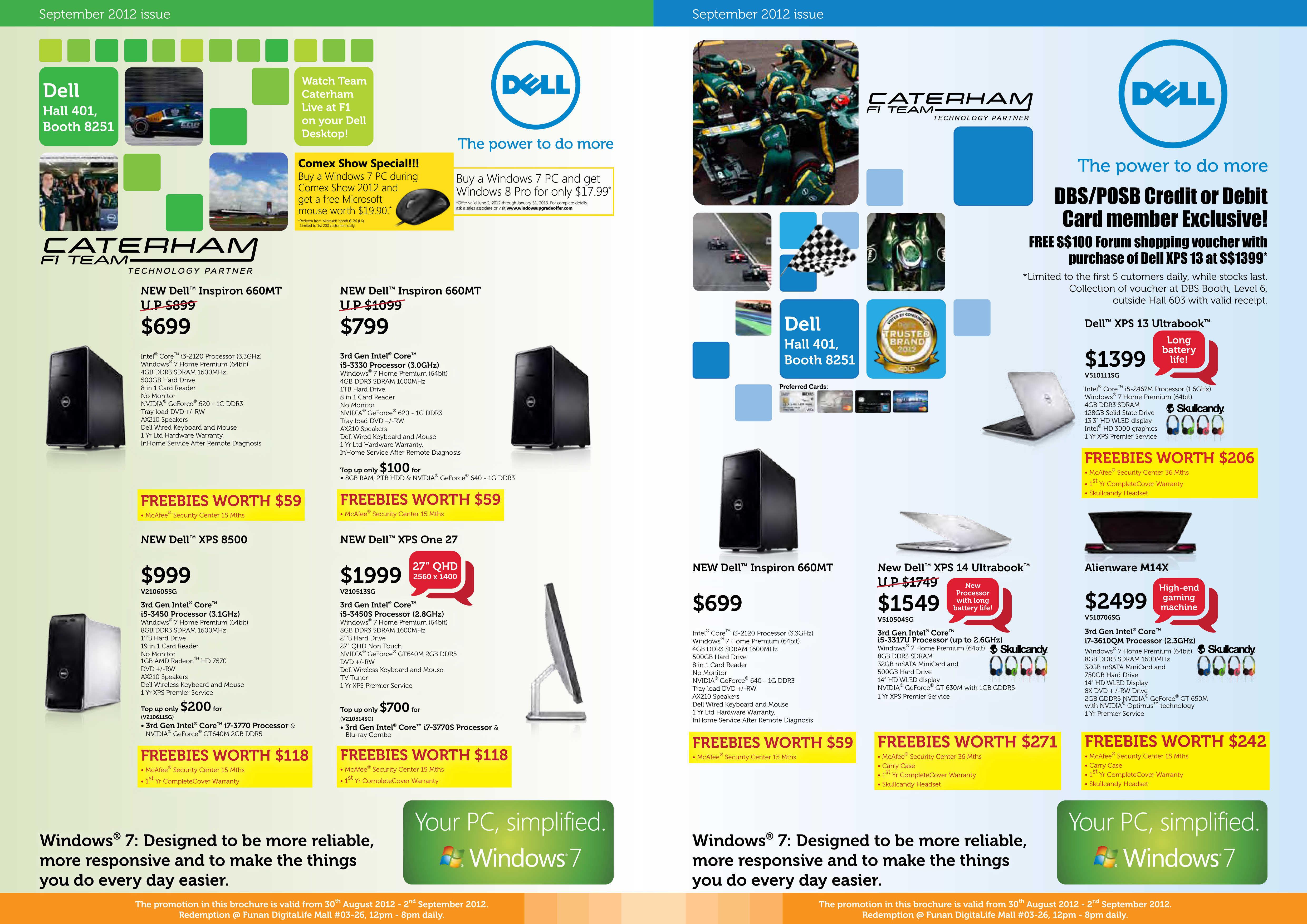 Dell Main booth COMEX 2012 Pricelist 1