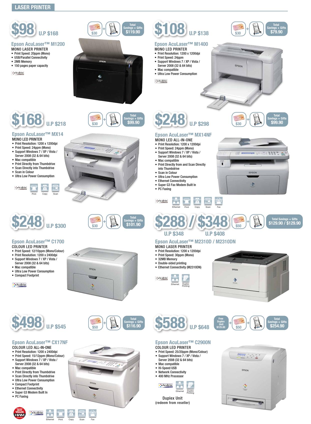 EPSON COMEX 2012 Price List 2