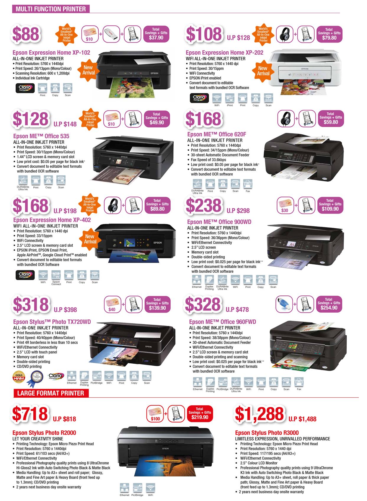 EPSON COMEX 2012 Price List 3