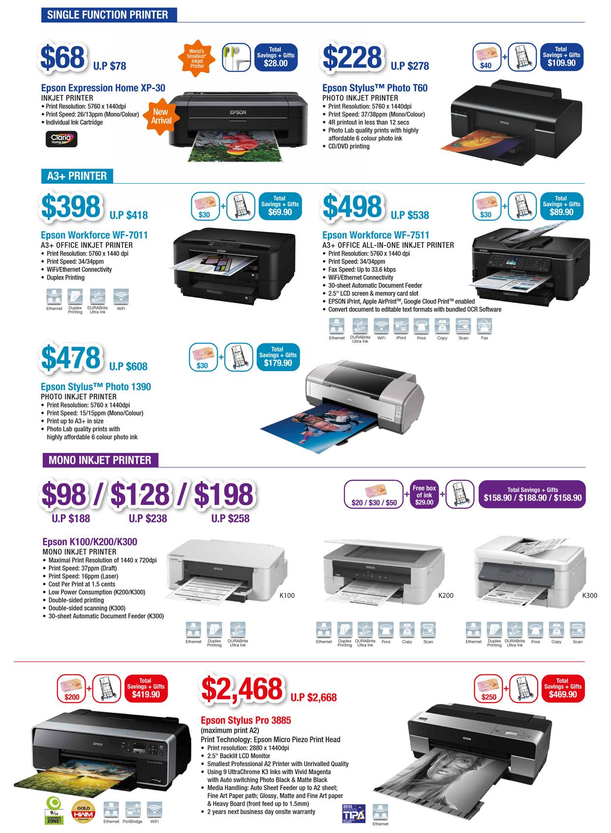 EPSON COMEX 2012 Price List 4