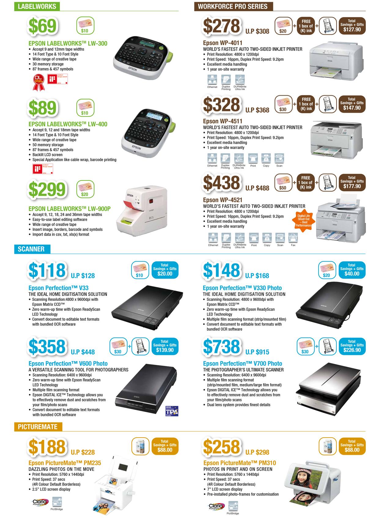 EPSON COMEX 2012 Price List 5