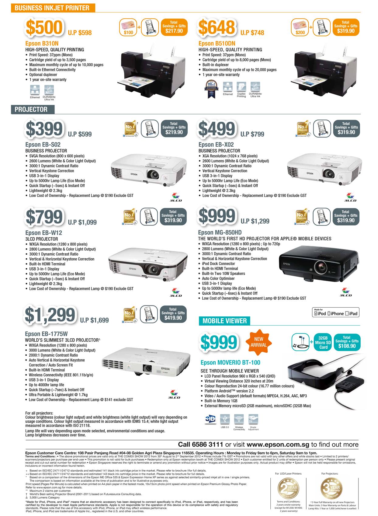 EPSON COMEX 2012 Price List 6