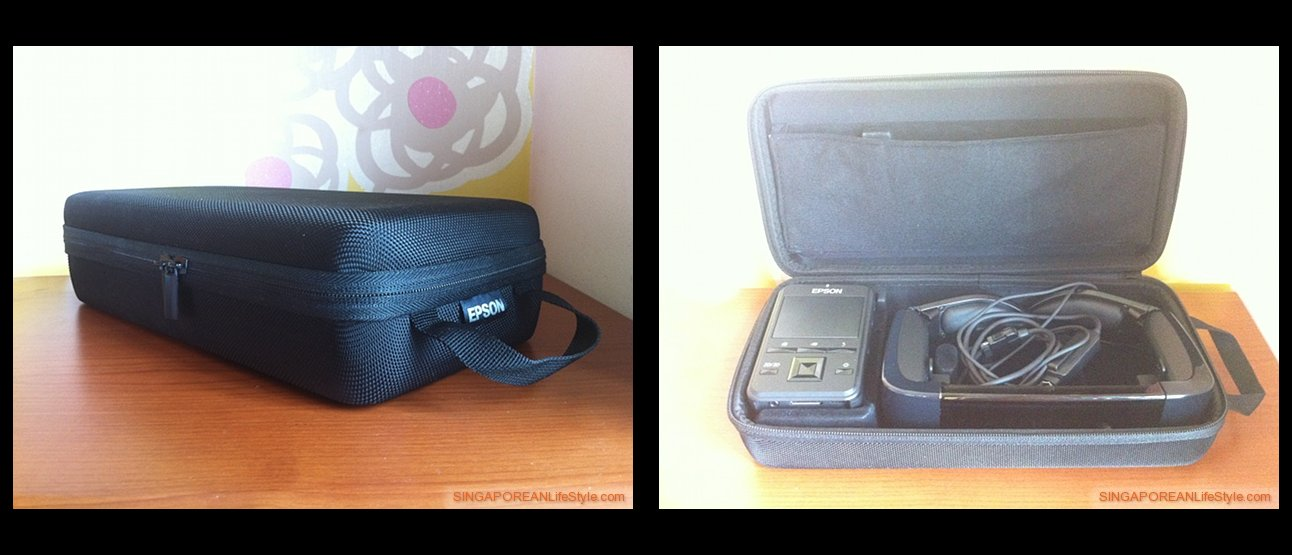 EPSON Moverio BT-100 comes with a sturdy carrying case