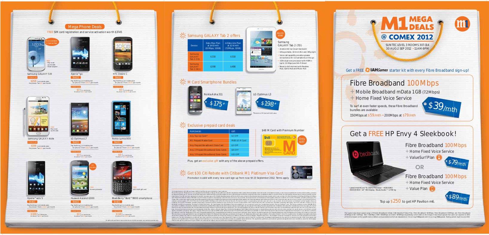 M1 COMEX 2012 Pricelist 1