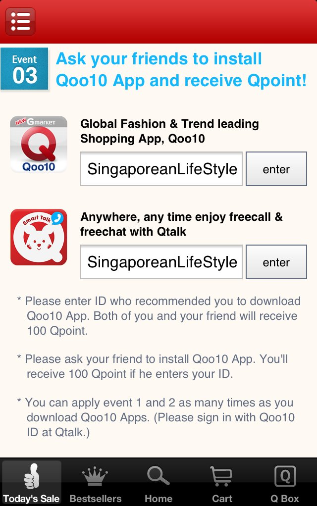 aa5a2b88b97 Recommend the ID of your referral to earn 100 Qpoint - Singaporean ...