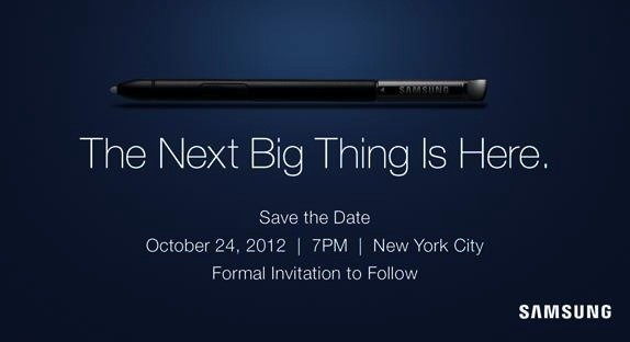 Samsung The Next Big Thing Is Here 24 Oct 2012