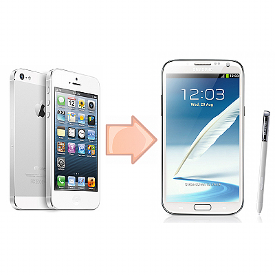 Transfer Data From iPhone To Samsung Galaxy Note 2