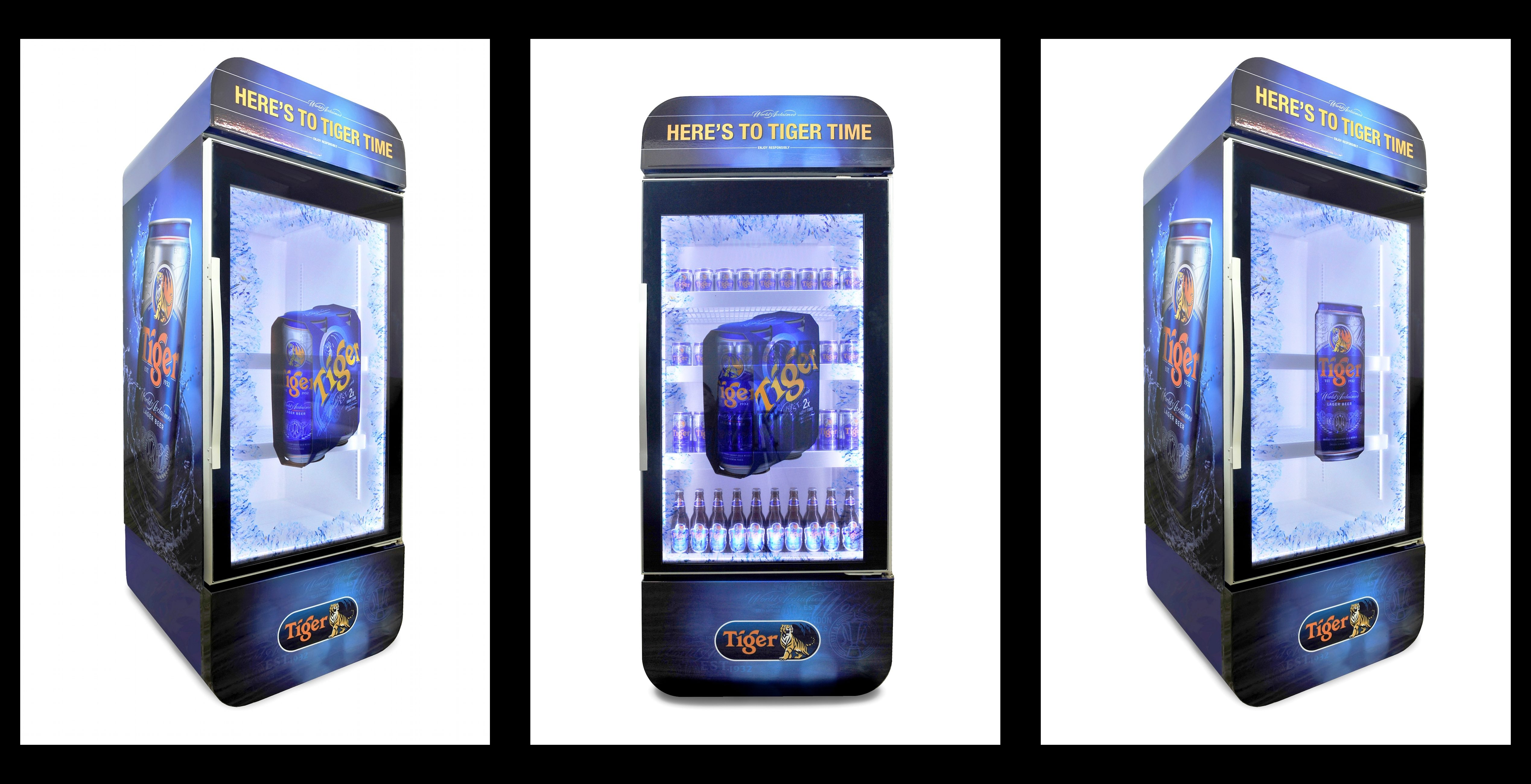 Tiger Beer Multimedia LCD Chillers
