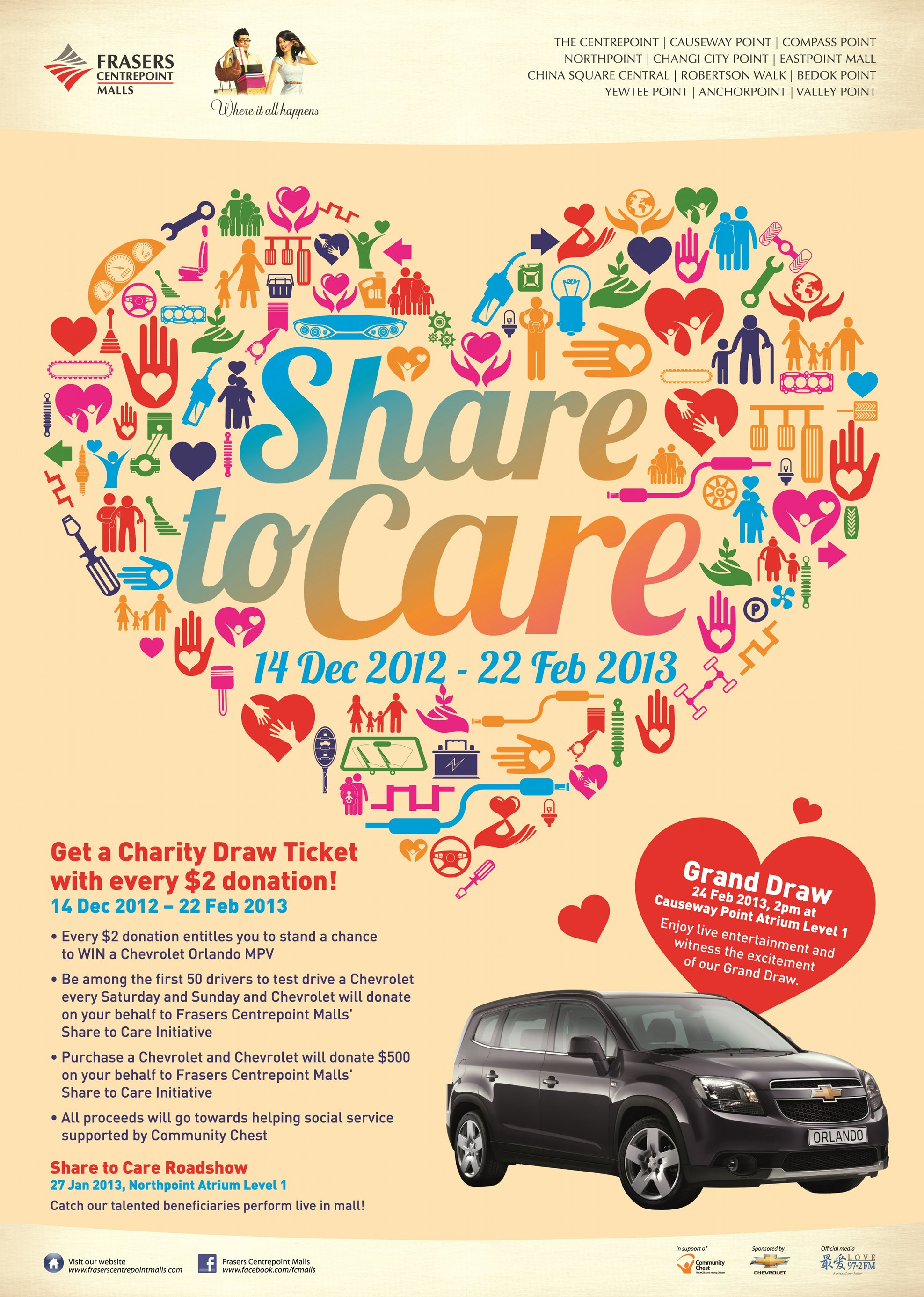 Frasers Centrepoint Malls Share to Care Charity Drive