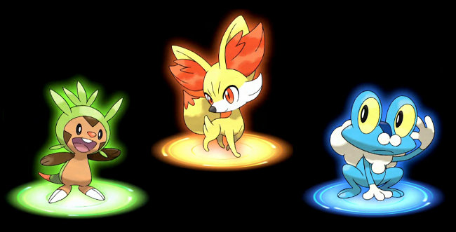 Pokemon X and Y Starter Pokemon - Chespin Fennekin Froakie