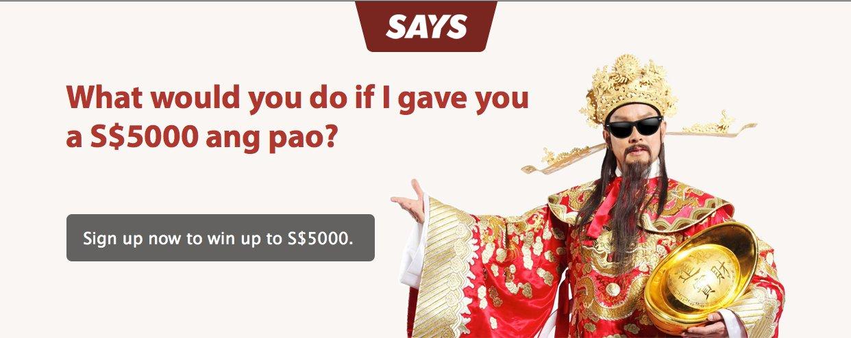 SAYS CNY 2013 Win $5K Ang Pao