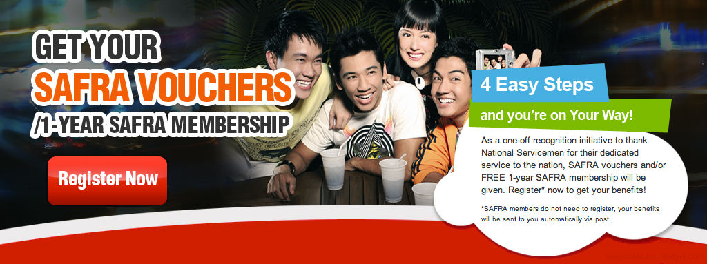 NS45 Safra Vouchers and Membership FREE- Singaporean LifeStyle