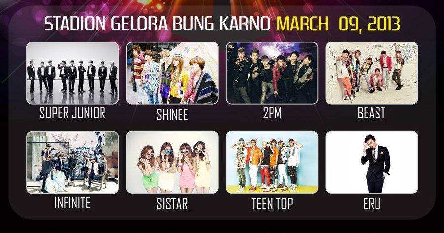 KBS MusicBank World Tour - Jakarta - 9 March 2013