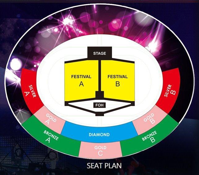 KBS MusicBank World Tour - Seat Arrangement Plan