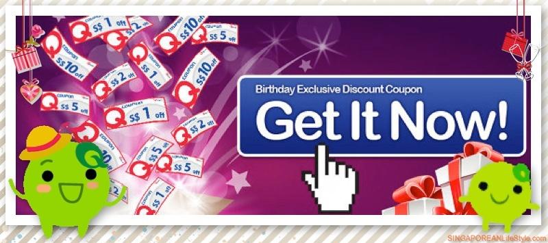 FREE Qoo10 Singapore Birthday Exclusive Discount Coupons