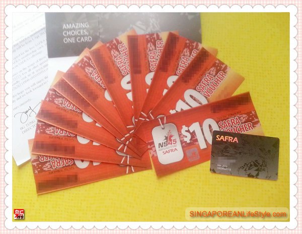NS45 Vouchers And FREE SAFRA Membership Card
