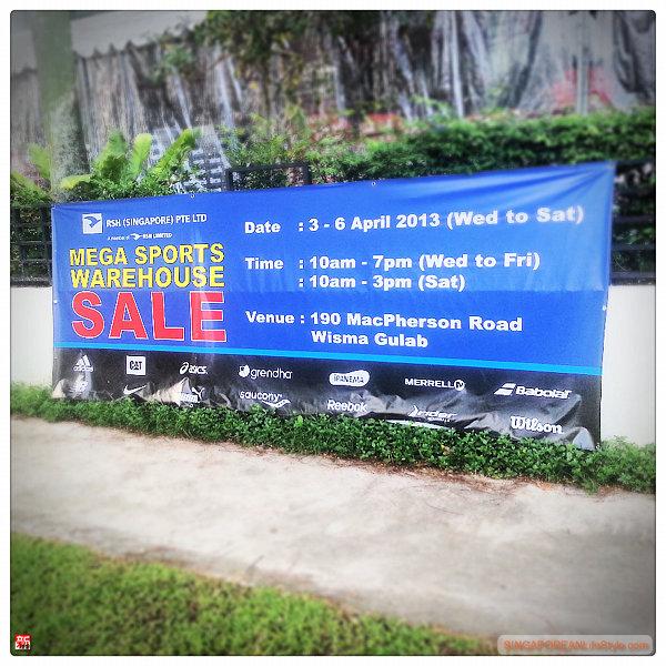 RSH Mega Sports Warehouse SALE 3-6 April 2013