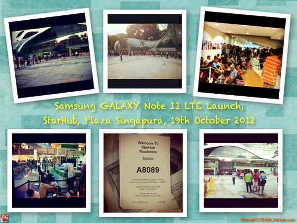 Samsung GALAXY Note 2 LTE Launch - 19th October 2012 - StarHub - Plaza Singapura