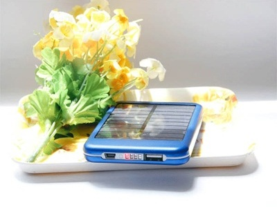 Solar Powered Mobile Charger from Qoo10