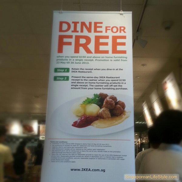 DINE For Free - IKEA Singapore Promotion